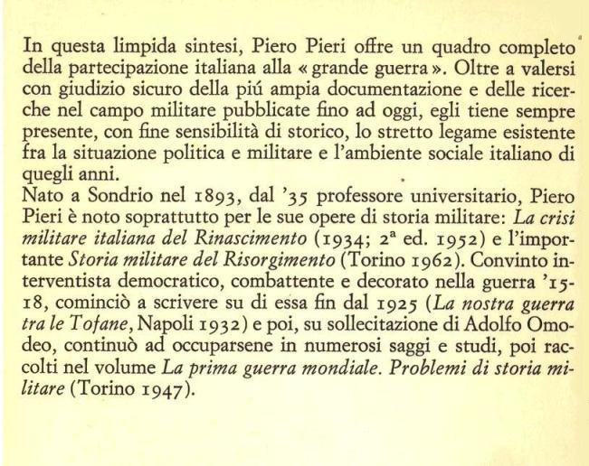 L'Italia nella prima guerra mondiale.