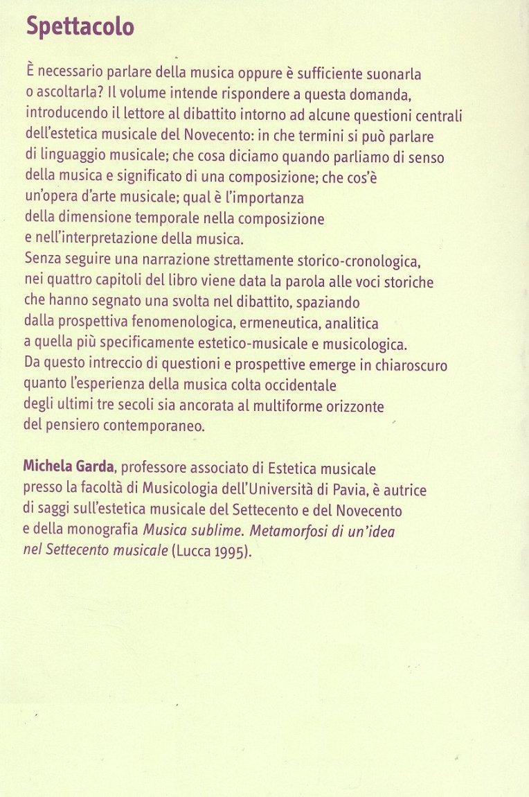 L'estetica musicale del Novecento.