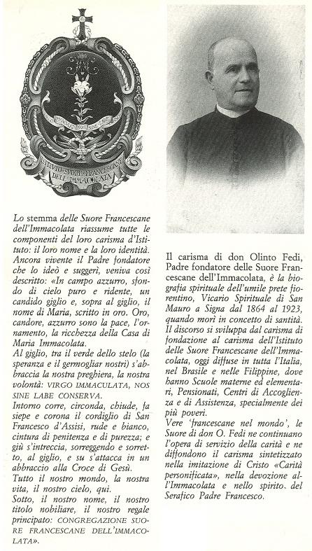 Il carisma di don Olinto Fedi.