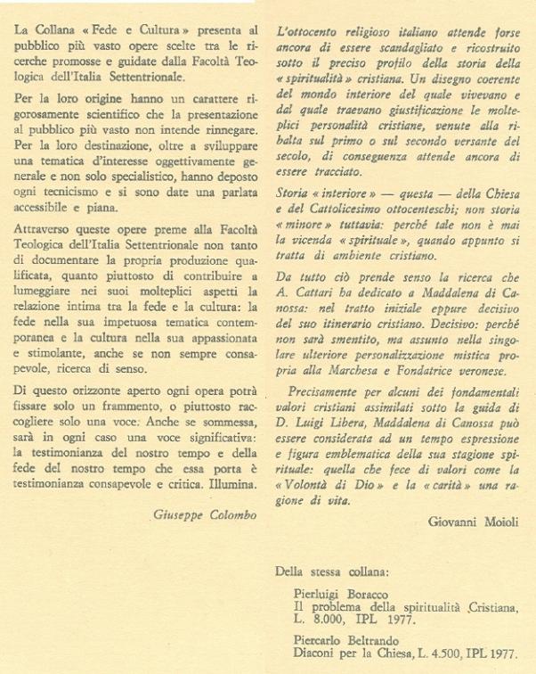 Maddalena Gabriella di Canossa.