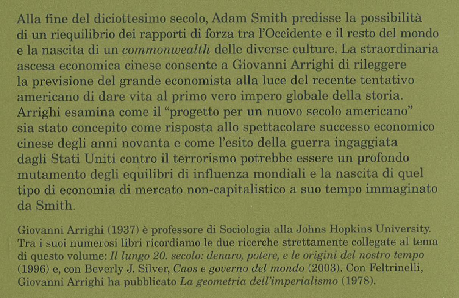 Adam Smith a Pechino.