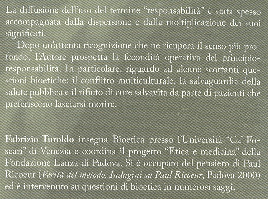 Bioetica ed etica della responsabilità.