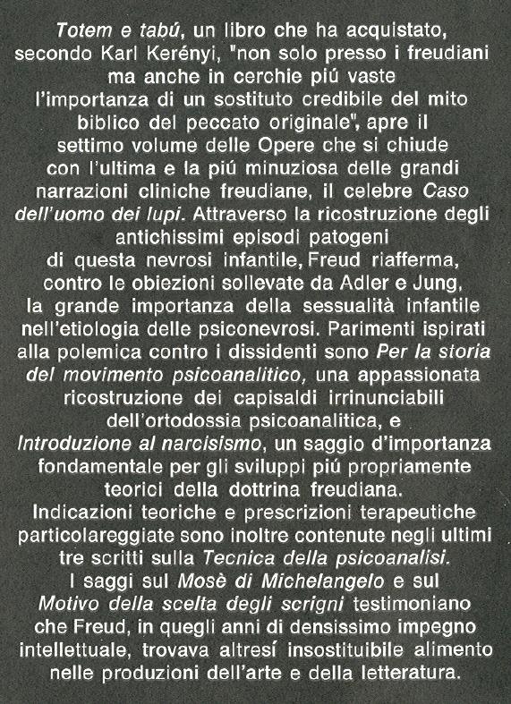Opere di Sigmund Freud. 7: Opere 1912-1914.