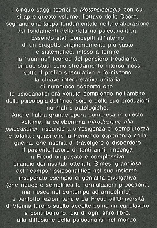 Opere di Sigmund Freud. 8: Opere 1915-1917.