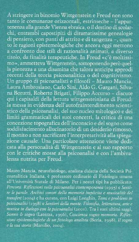 Wittgenstein & Freud.