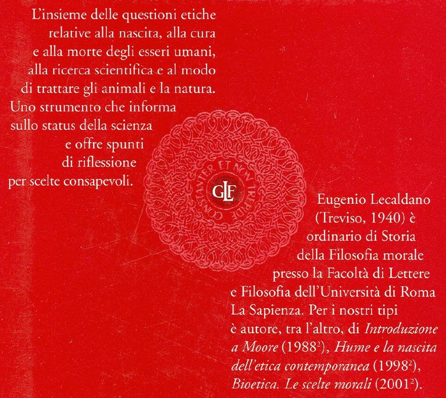 Dizionario di bioetica.