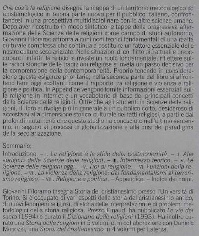 Che cos'è la religione.