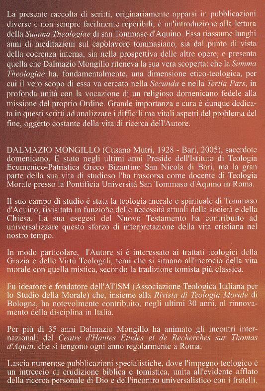 La dimensione etico-teologica nella Summa theologiae di Tommaso d'Aquino: ispirazione, fondazione, articolazione.