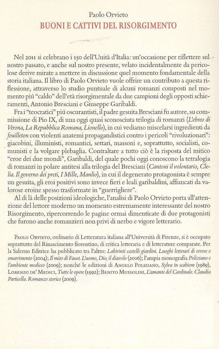Buoni e cattivi del Risorgimento.