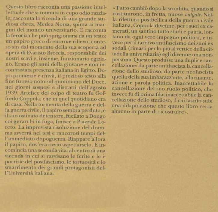 Il papiro di Dongo.