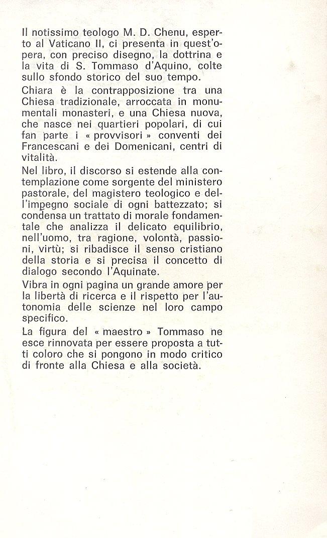San Tommaso d'Aquino e la teologia.