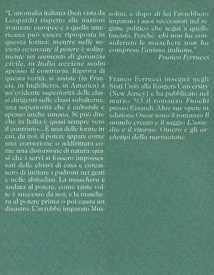 Nuovo discorso sugli italiani.