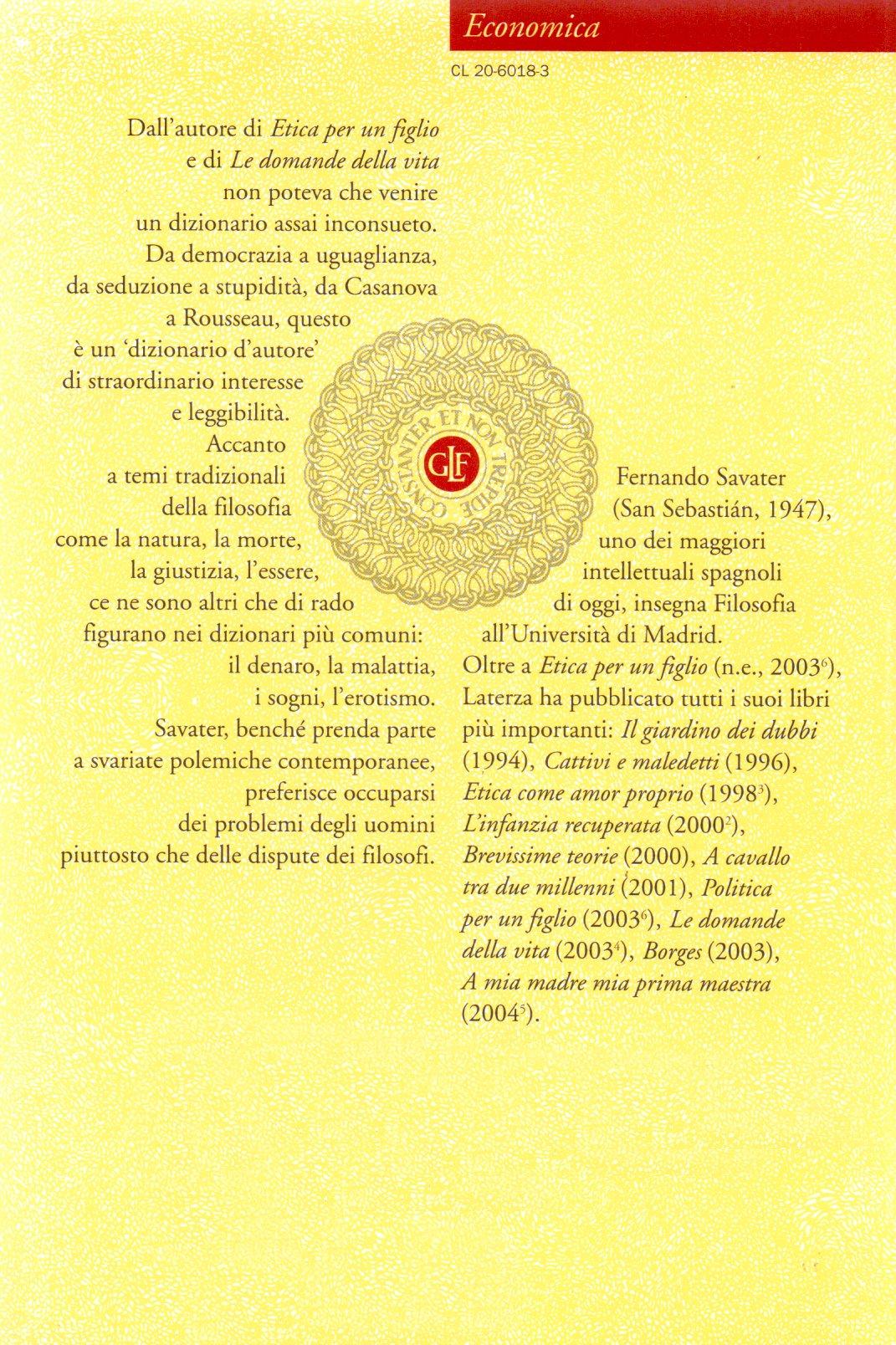 Dizionario filosofico.
