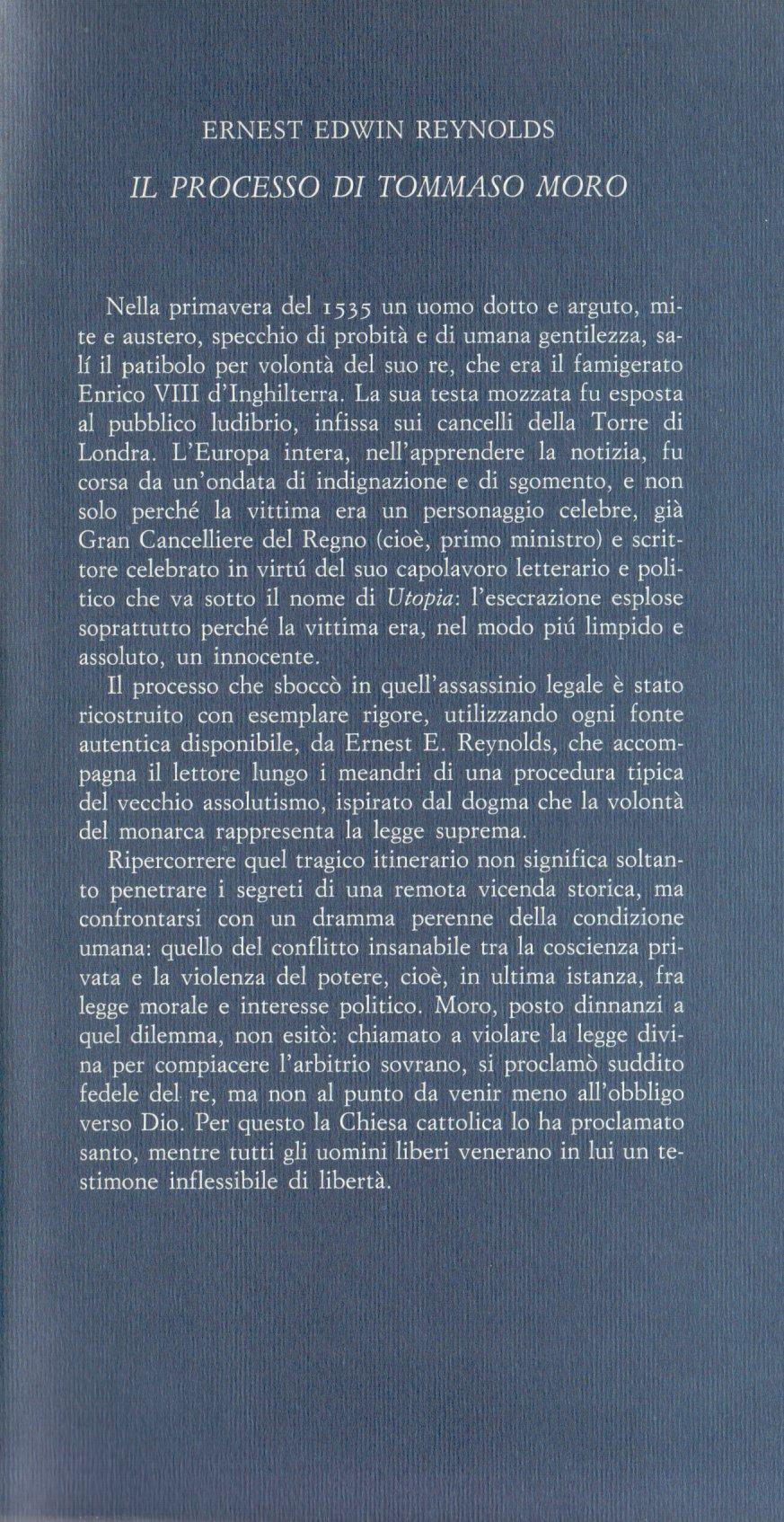 Il processo di Tommaso Moro.