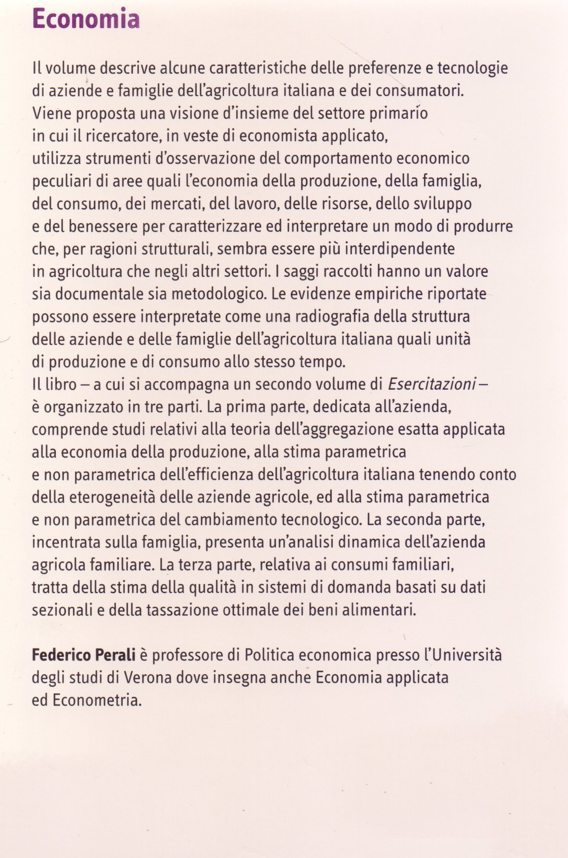 Microeconomia applicata. Vol. 1.: Saggi.