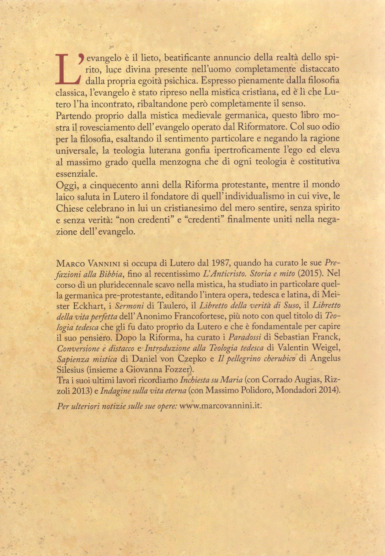 Contro Lutero e il falso evangelo.