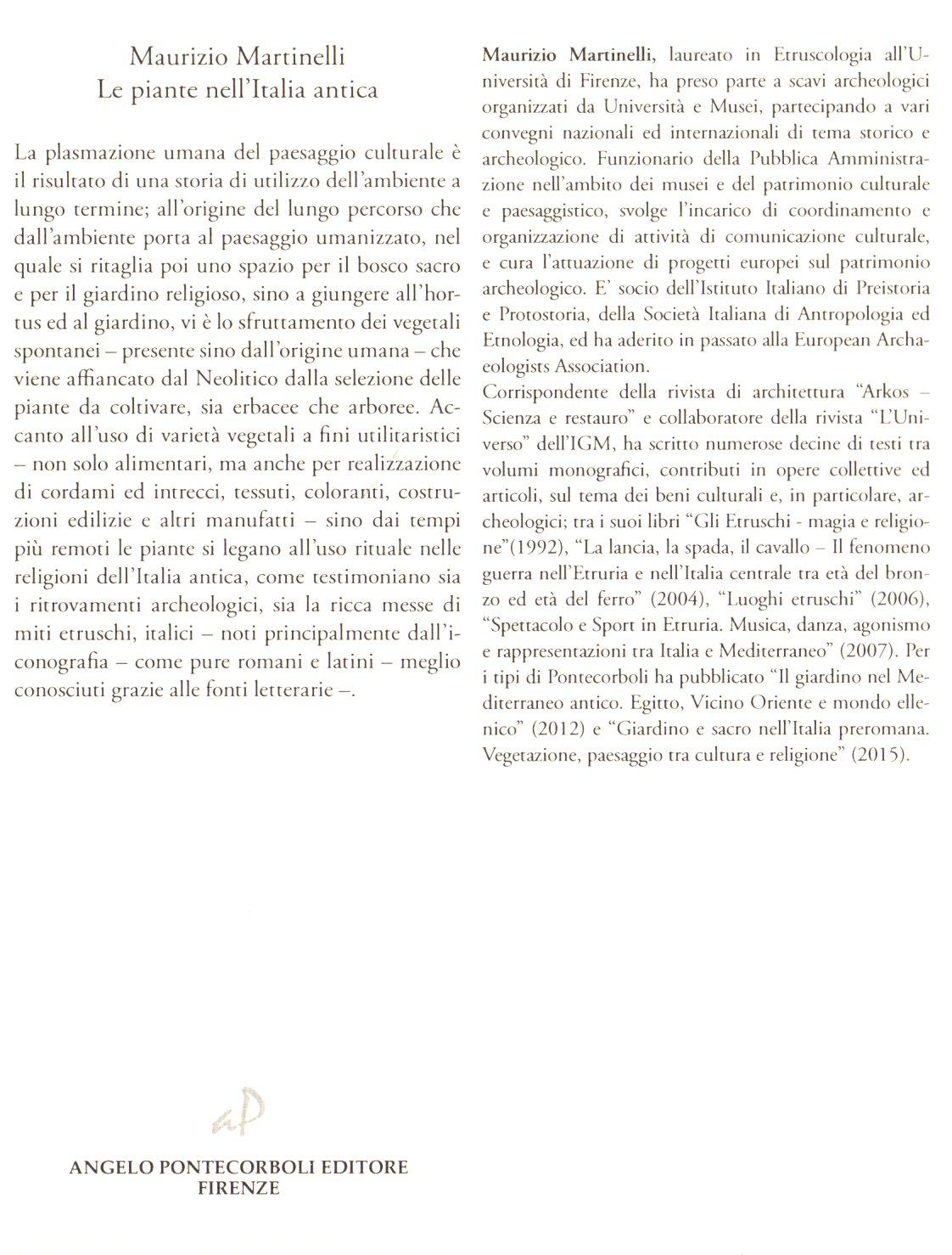 Le piante nell'Italia antica.
