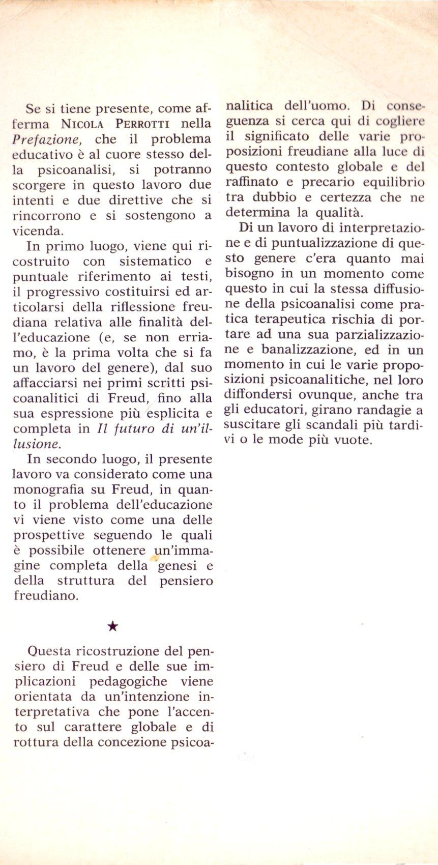 Freud e l'educazione.