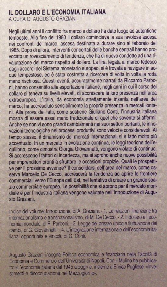 Il dollaro e l'economia italiana.