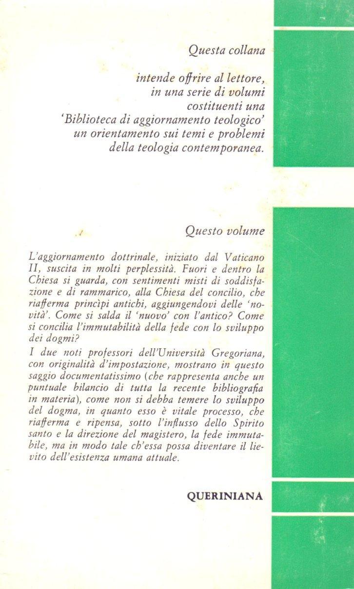 Lo sviluppo del dogma cattolico.