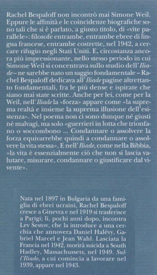 Sull'Iliade.