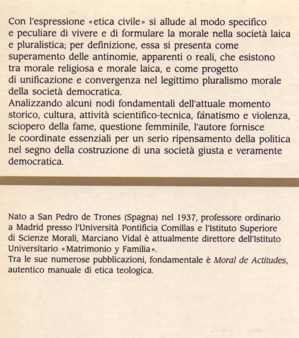 Etica civile e società democratica.