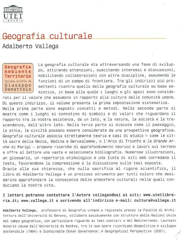 Geografia culturale.