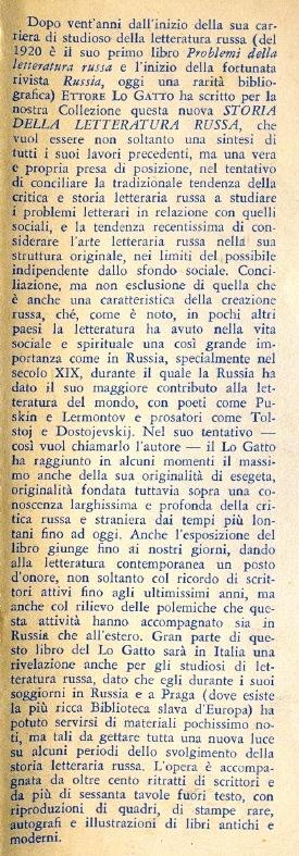 Storia della letteratura russa.