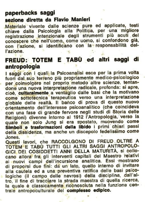 Totem e tabù.